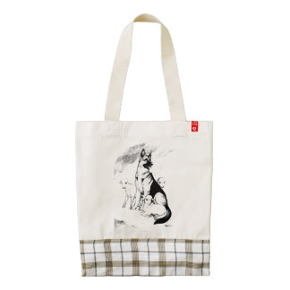 Dog Heaven, the Master's Flock Zazzle HEART Tote Bag