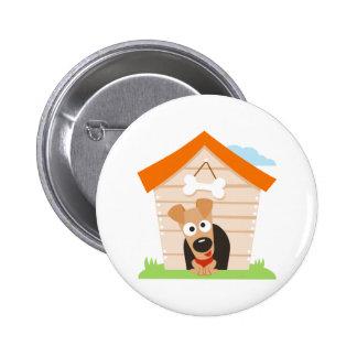 Dog House 2 Inch Round Button