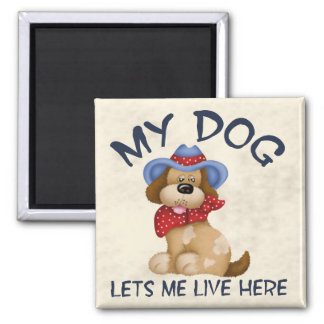 Dog House 2 Inch Square Magnet