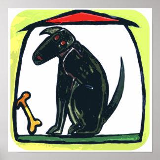 DOG HOUSE BONE PET PRINT