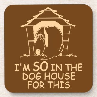 DOG HOUSE custom color coaster