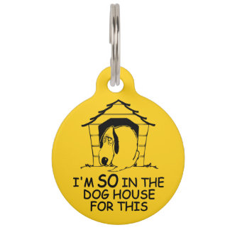 DOG HOUSE custom color pet tag