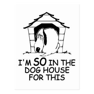 DOG HOUSE custom color postcard