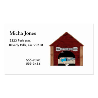 Dog House Man Double-Sided Standard Business Cards (Pack Of 100)