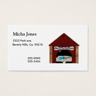 Dog House Man Business Card