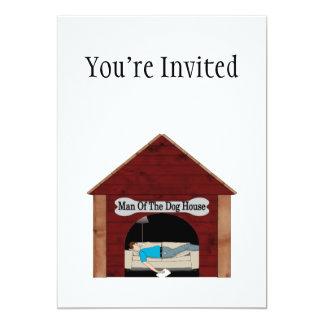 Dog House Man 5x7 Paper Invitation Card