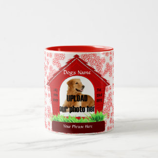 Dog House Pet Memorial Keepsake Two-Tone Coffee Mug