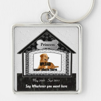 Dog House Pet Memorial Keychain