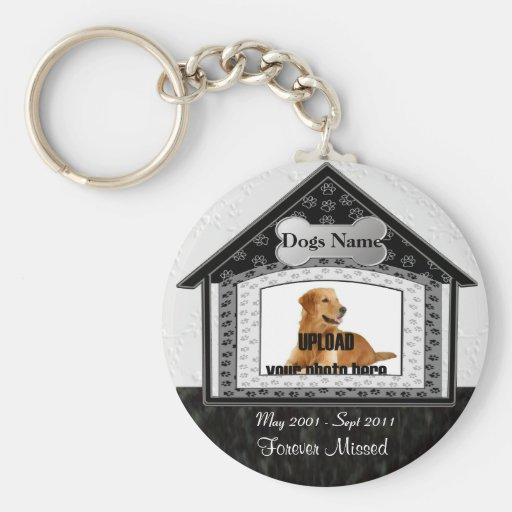 Dog House Pet Memorial Keychains