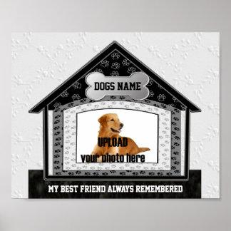 Dog House Pet Memorial Poster