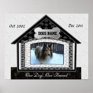 Dog House Pet Memorial Print