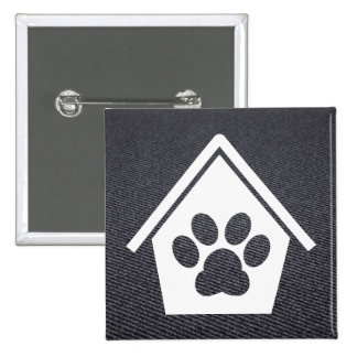 Dog Houses Minimal 2 Inch Square Button