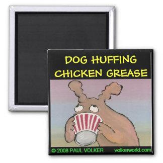 DOG HUFFING magnet $3.00