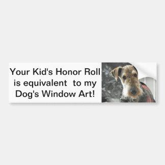 Dog humor bumper sticker car bumper sticker