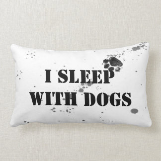 dog humor quote throw pillow black and white