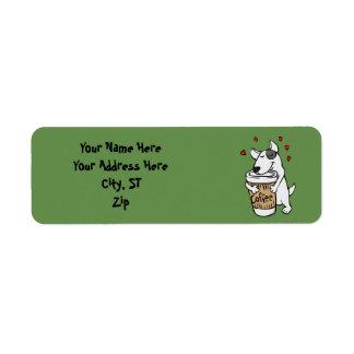 Dog i love coffee label