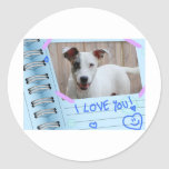 Dog I Love You Stickers