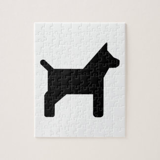 Dog icon jigsaw puzzle