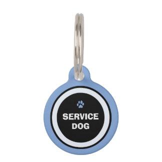 Dog ID Tag - Blue & Black- Service Dog Pet Tags