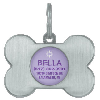 Dog ID Tag -  Purple For Small Dog