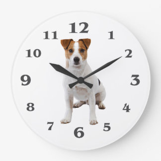 Dog image for Round (Large) Wall Clock
