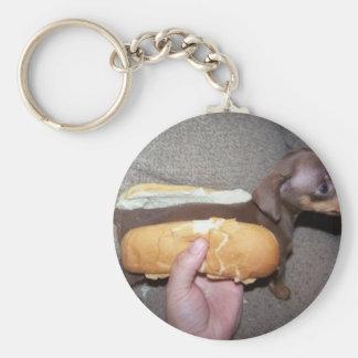 Dog in a Bun Keychain