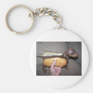 Dog in a Bun Key Chain