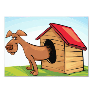 Dog In A Dog House Invitations