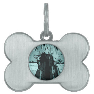 Dog in a dress pet tag