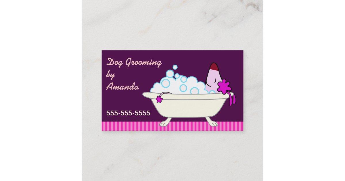 Dog in Bathtub - Pet Groomer Business Card | Zazzle.com