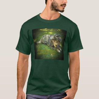 Dog in Camouflage T-Shirt