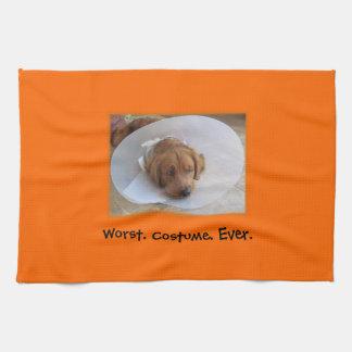Dog in Cone Halloween Kitchen Towel