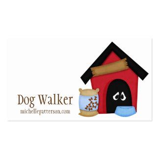 Dog in Dog House Walker Pet Sitter Business Cards Pack Of Standard Business Cards