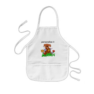 Dog In Garden Dog Lover Kids' Apron