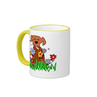Dog In Garden Dog Lover Mug