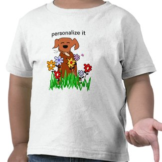 Dog In Garden Dog Lover Tshirt