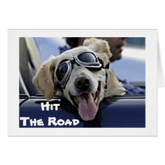 """DOG IN GOGGLES SAYS """"ENJOY YOUR RETIREMENT"""" CARD"""