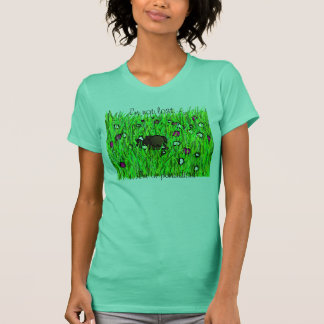 dog in grass, I'm not lost..., ...I'm in paradise! T-Shirt