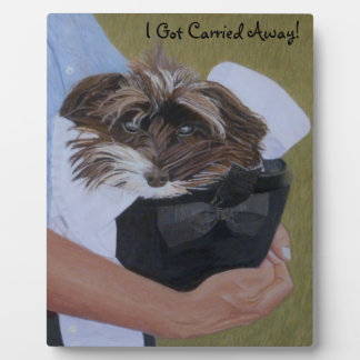 Dog in Hat at Horseshow Photo Plaques