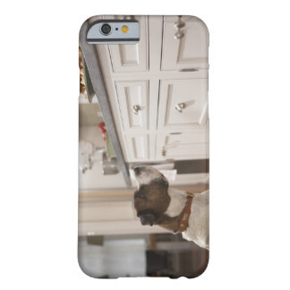 Dog in kitchen looking at food on counter barely there iPhone 6 case
