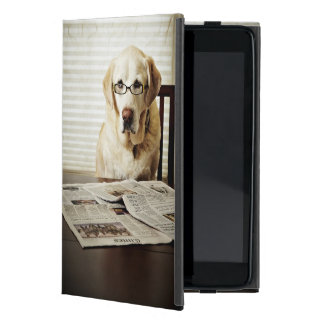 Dog in morning routine covers for iPad mini