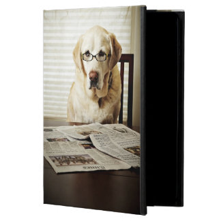Dog in morning routine iPad air case