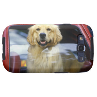 Dog in red car window galaxy SIII cover