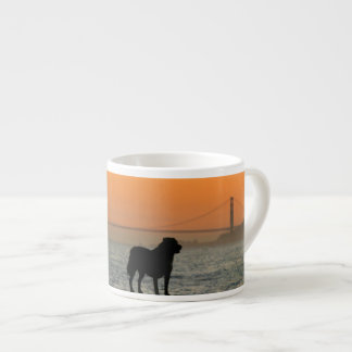 Dog in San Francisco Sunset Espresso Cup