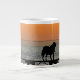 Dog in San Francisco Sunset Giant Coffee Mug