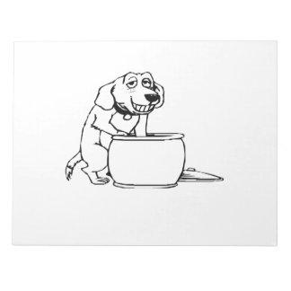 Dog in Snack Jar Scratch Pads