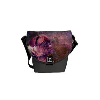Dog in Space Messenger Bag