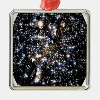 Dog In Space Metal Ornament