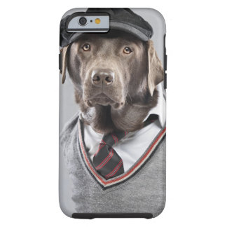 Dog in sweater and cap tough iPhone 6 case