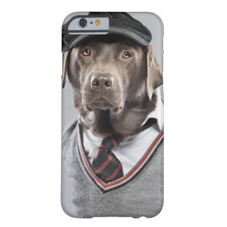 Dog in sweater and cap barely there iPhone 6 case